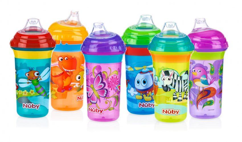 כוסות קליק איט מבית NUBY, 24.90 שח במקום 34.90 שח, להשיג ברשתות השיווק המובחרות ובאתר המותג, יחצ חול